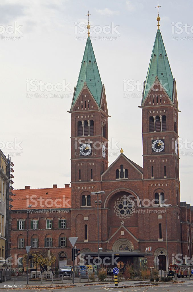 Franciscan church St Mary Mother of Mercy in Maribor stock photo