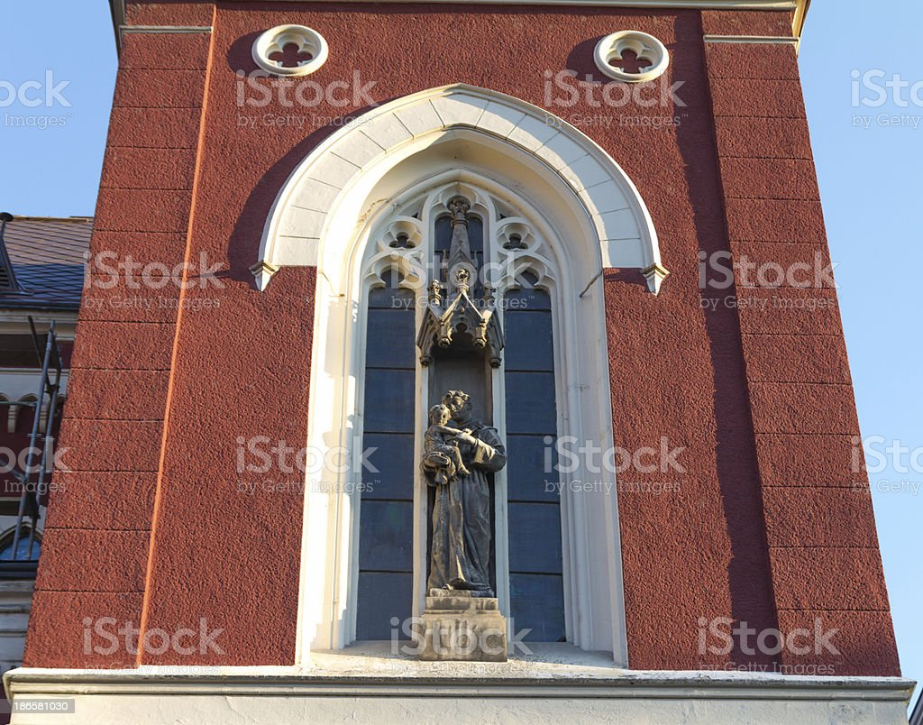 Franciscan church steeple detail royalty-free stock photo