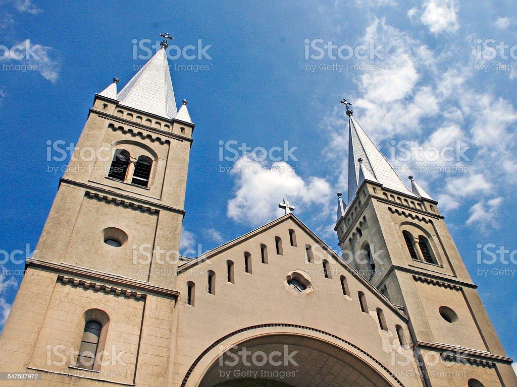 Franciscan church Subotica stock photo