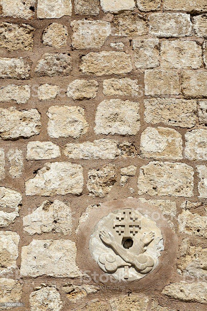 Franciscan Church Wall royalty-free stock photo