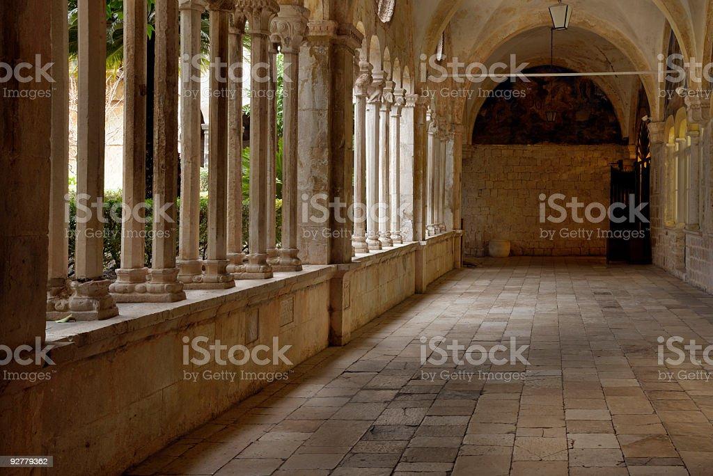 Franciscan Monastery, Dubrovnik, Croatia royalty-free stock photo