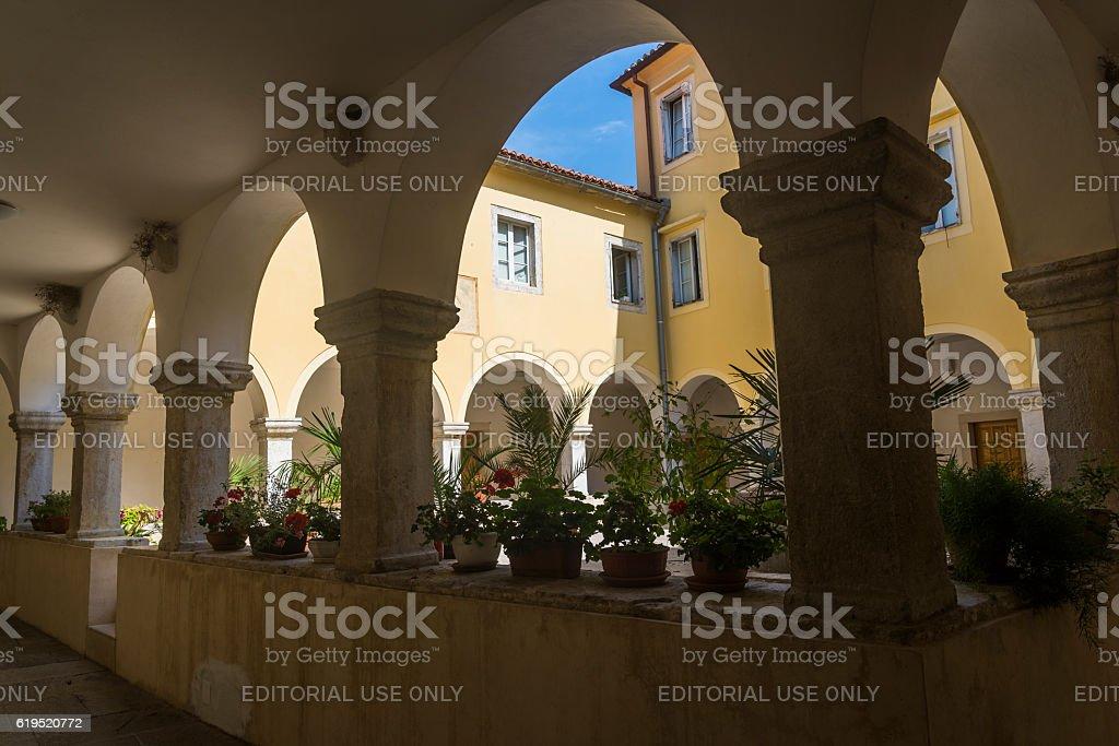 Franciscan Monastery, Krk, Croatia stock photo