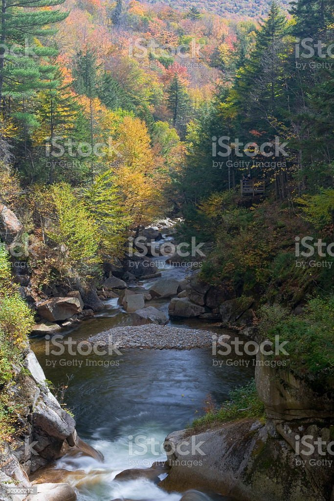 Franconia Notch Flume Series -The Pool royalty-free stock photo
