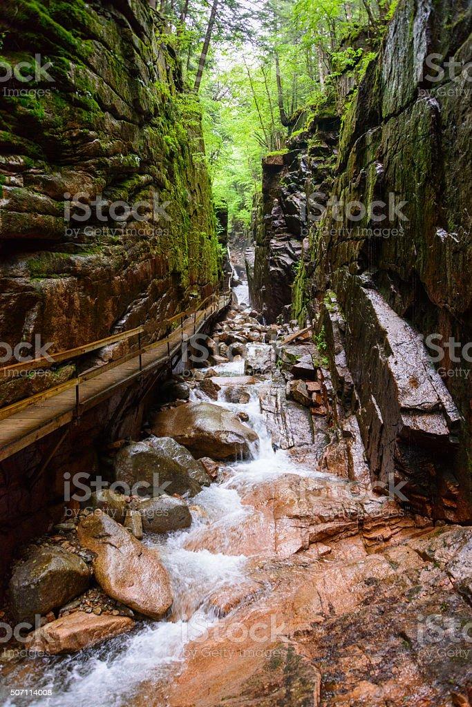 Franconia Notch State Park stock photo