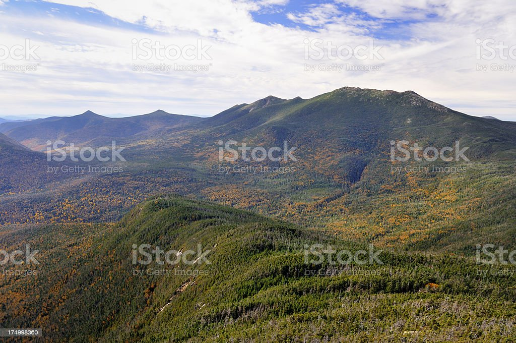 Franconia Range as Seen from Mt. Garfield Summit stock photo