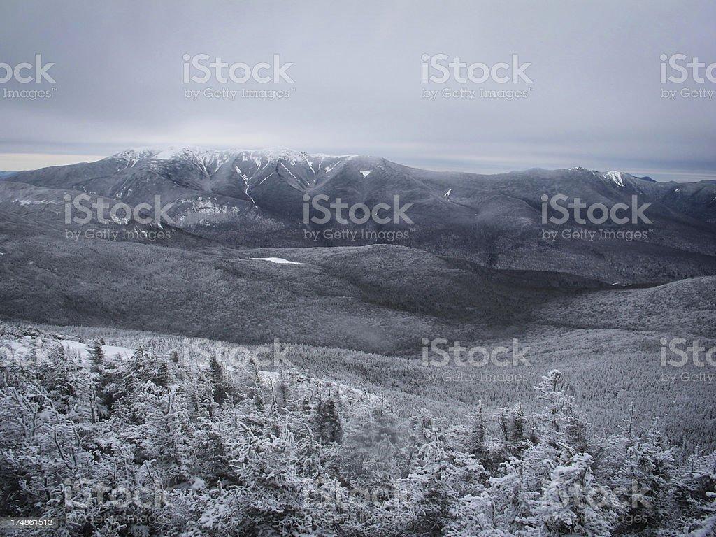 Franconia Range from North Kinsman stock photo