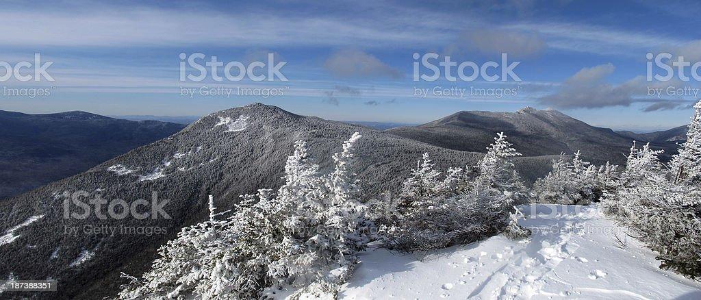 Franconia Range Pano in Winter stock photo