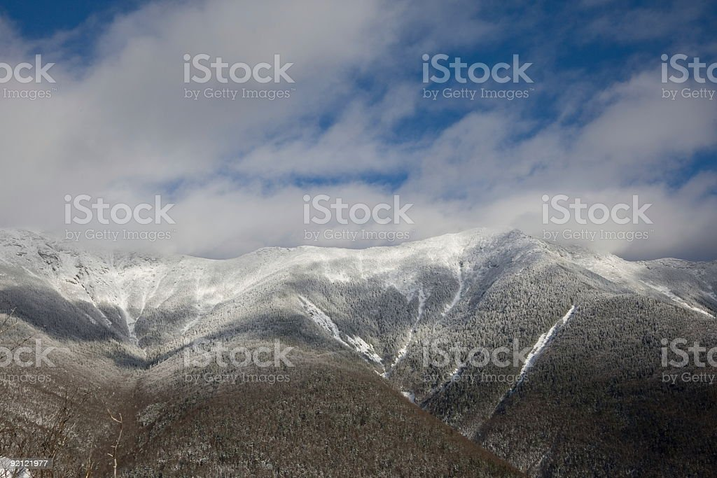 Franconia Ridge Between Mts Lafayette and Lincoln- New Hampshire stock photo