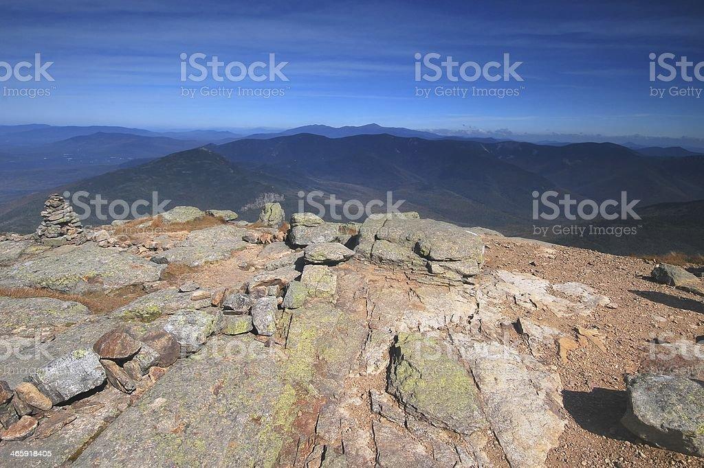 Franconia Ridge in the White Mountains, New Hampshire stock photo