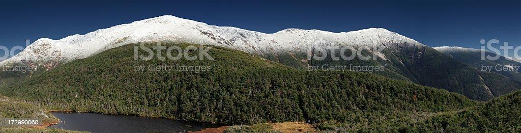 Franconia Ridge Mountain Range Panorama, New Hampshire stock photo