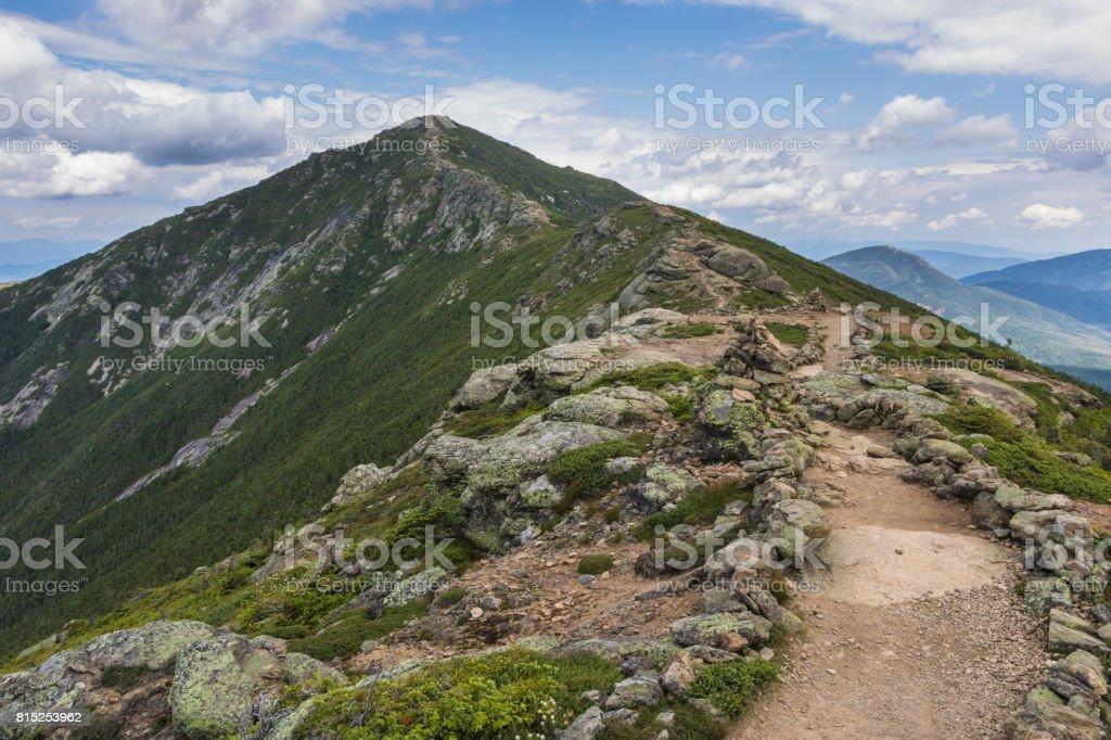 Franconia Ridge Trail in New Hampshire stock photo