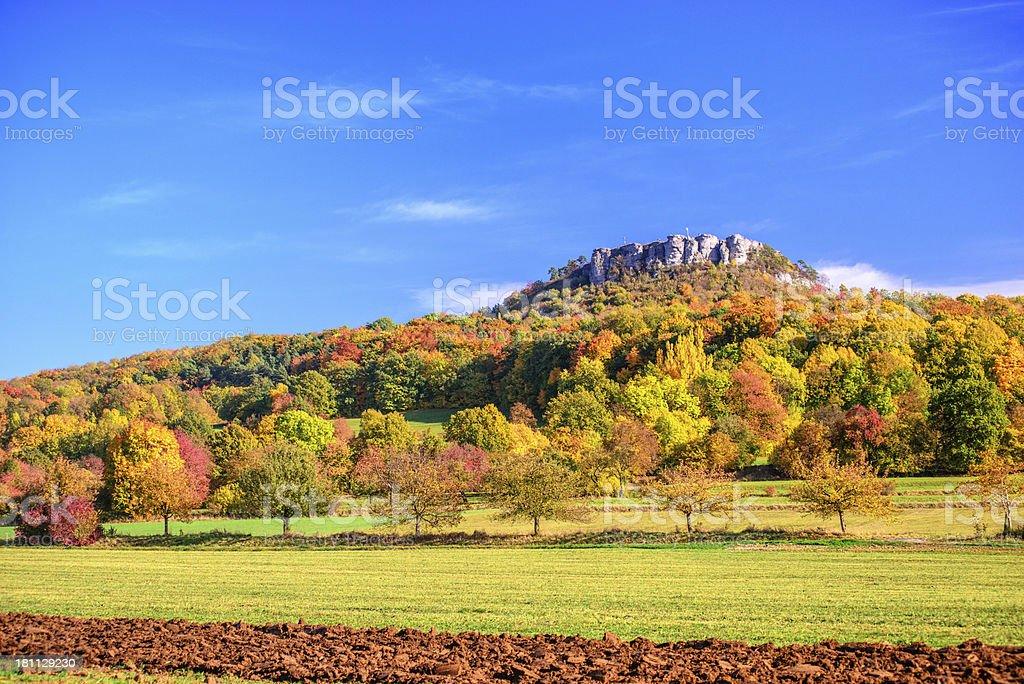 Franconian Autumn - Staffelberg stock photo