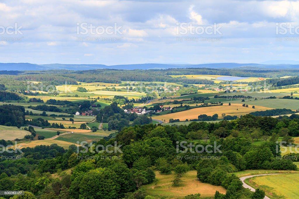 Die fränkische Sommer Landschaft Lizenzfreies stock-foto