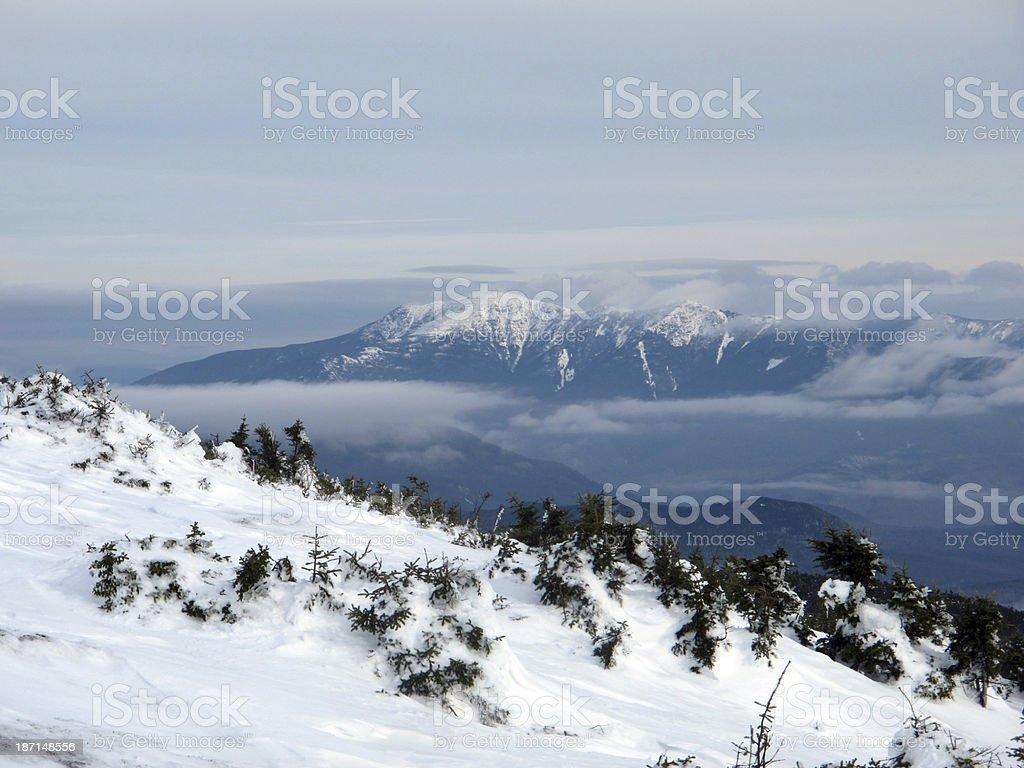 Franconina Range from Mt Moosilauke in Winter stock photo