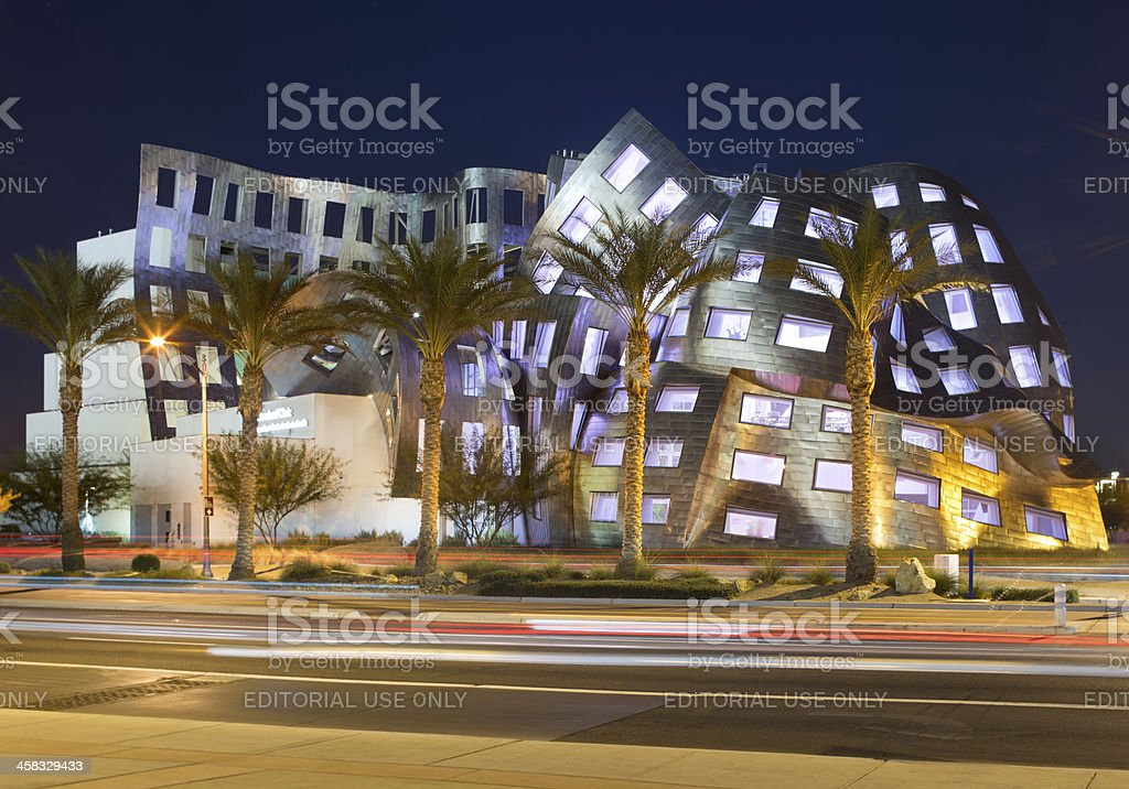 Frank Gehry's Cleveland Clinic in Las Vegas. stock photo