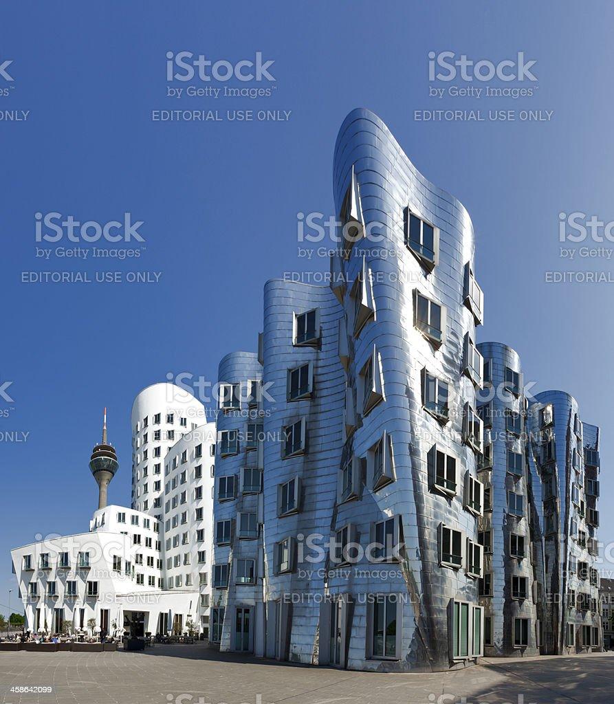 Frank O. Gehry's Neuer Zollhof buildings at MedienHafen Dusseldorf stock photo