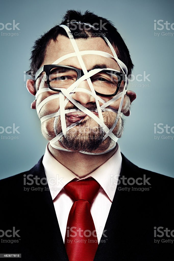Frankenstein in suit stock photo