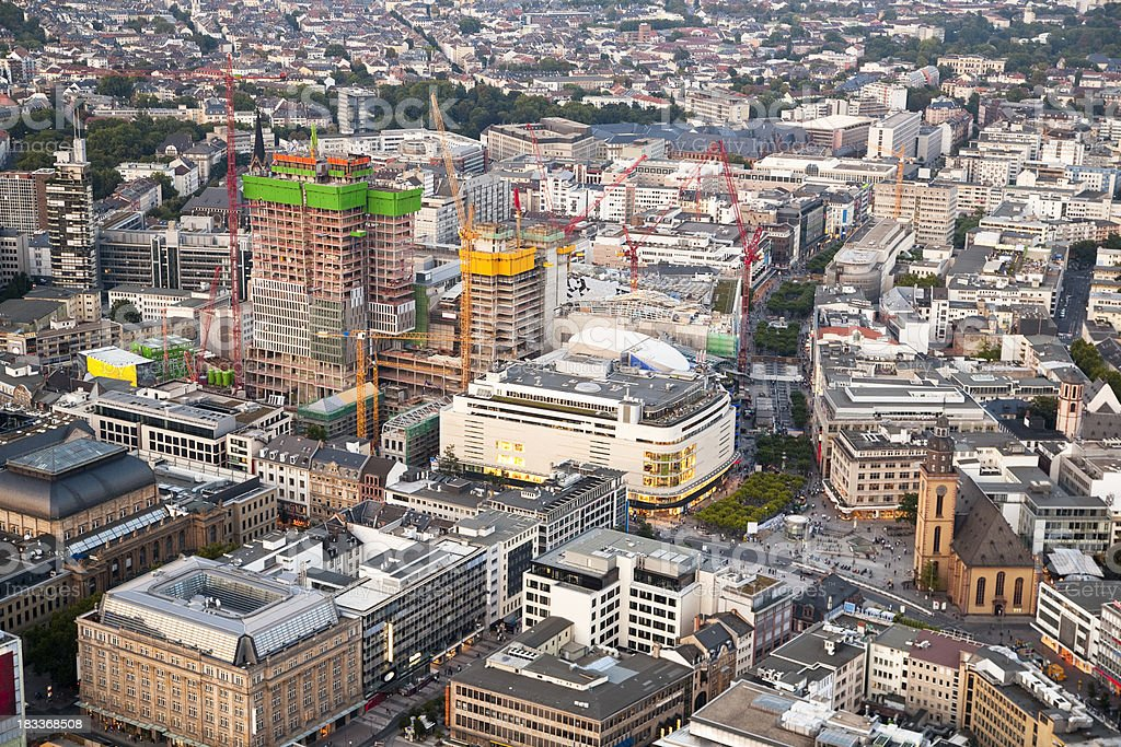 Frankfurt Aerial Panorama, Germany royalty-free stock photo