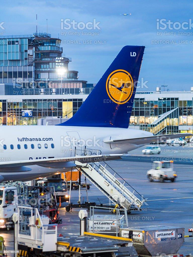 Frankfurt Airport in Germany stock photo