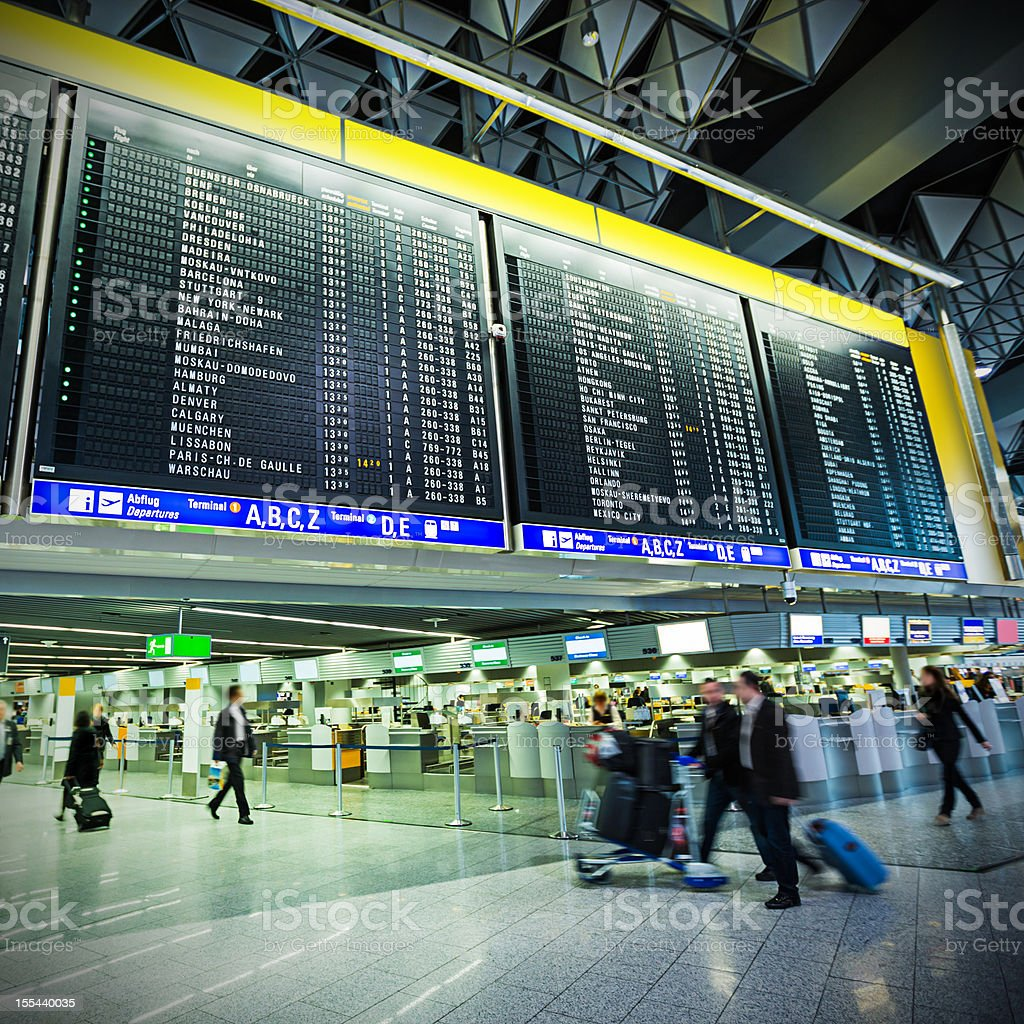 Frankfurt Airport, (Frankfurt am Main, Germany) royalty-free stock photo