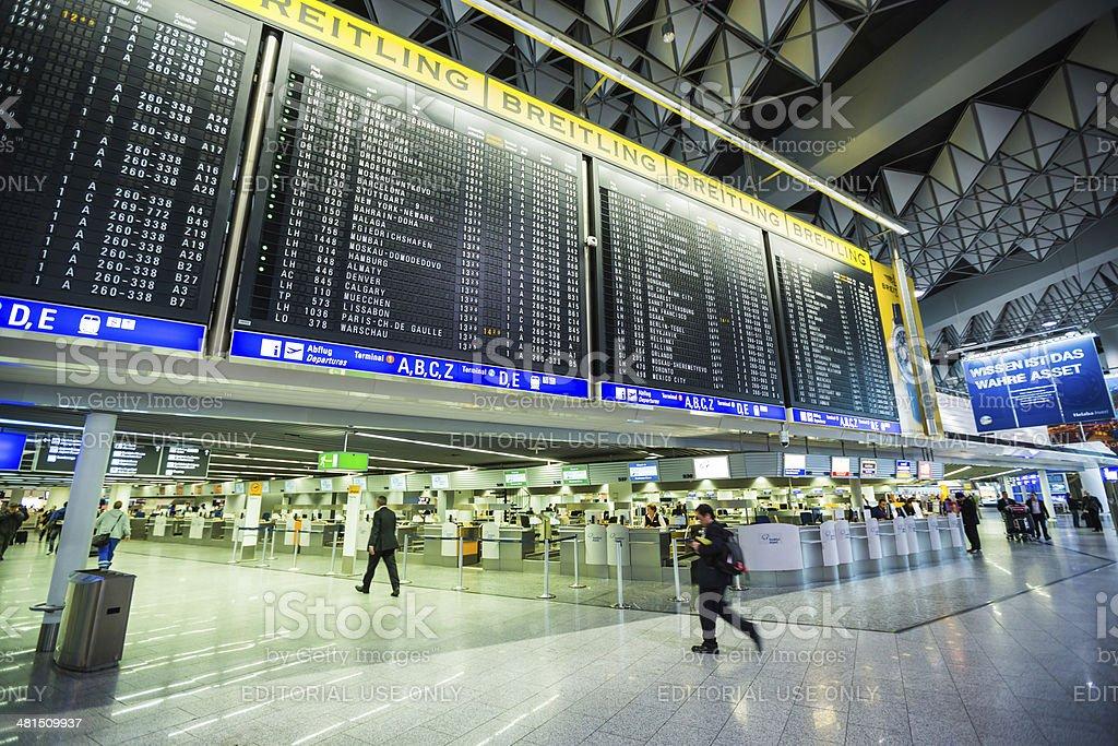 Frankfurt Airport, (Frankfurt am Main, Germany) stock photo