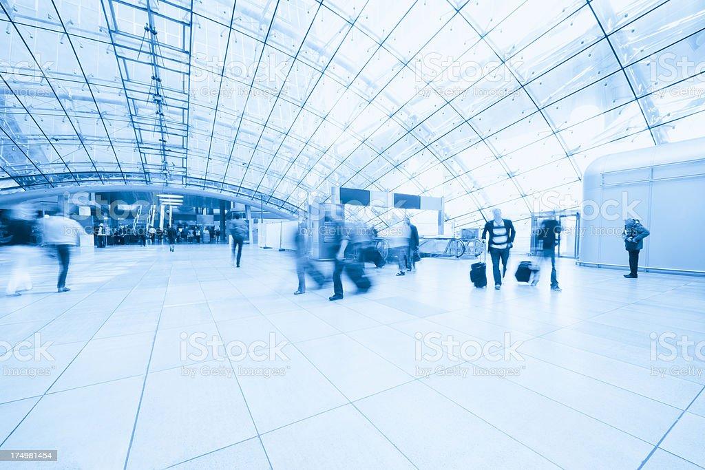 Frankfurt airport train station royalty-free stock photo