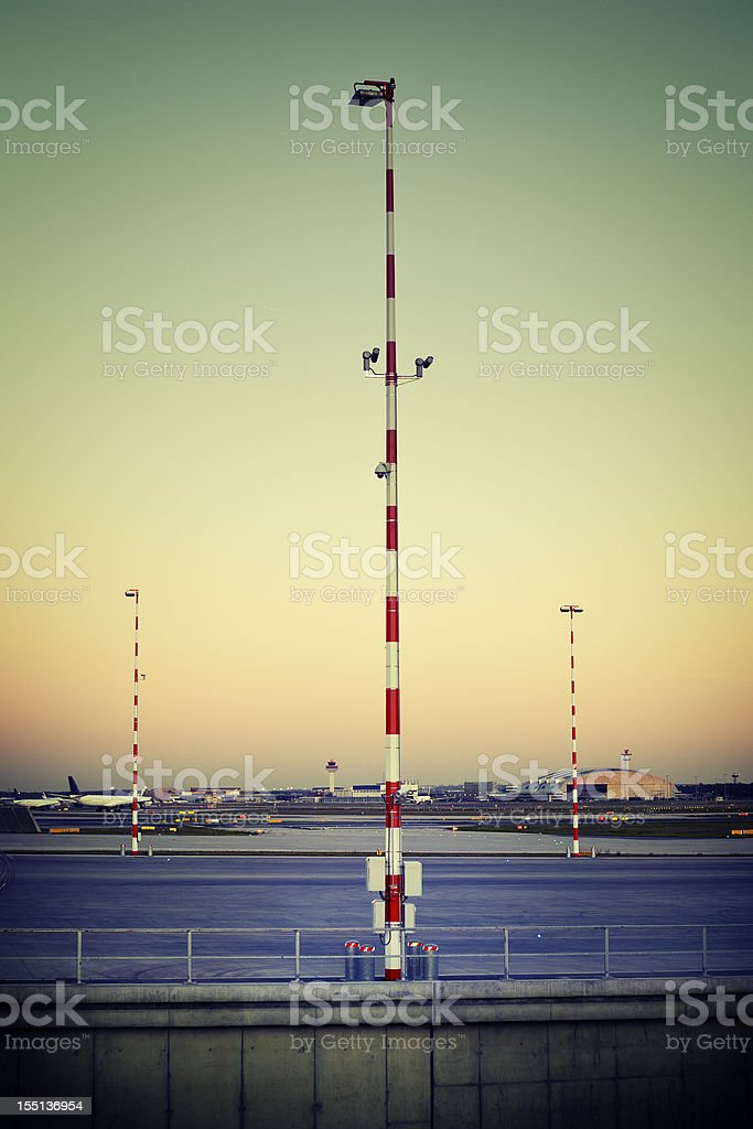 Frankfurt Airport, view at runway 18 West royalty-free stock photo