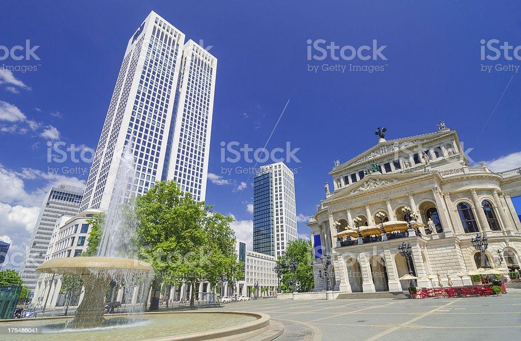 Frankfurt Alte Oper (Old Opera House) square stock photo