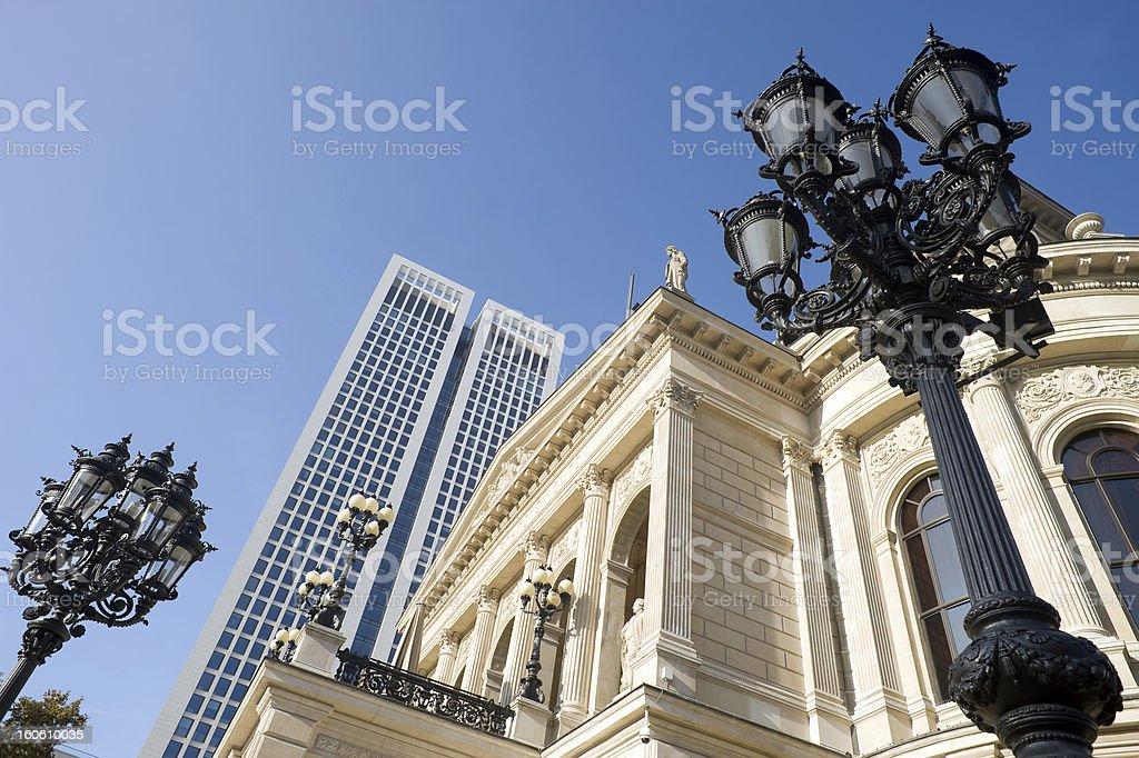 Frankfurt, Alte Oper und Opernturm stock photo