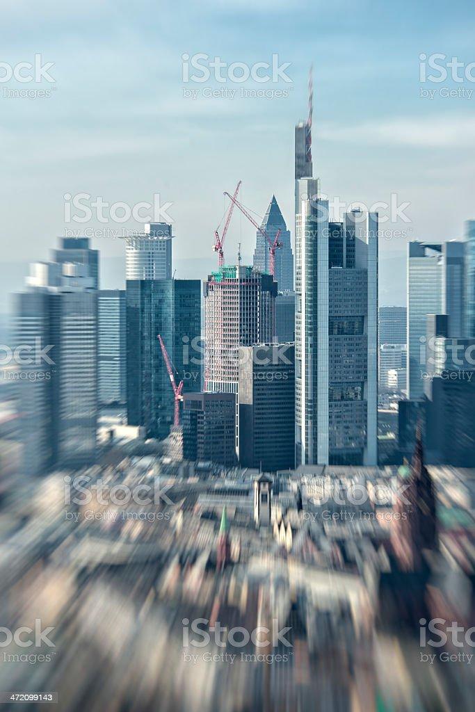 Frankfurt am Main, Aerial View stock photo