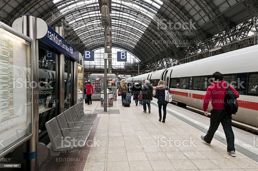 Frankfurt am Main central train station royalty-free stock photo