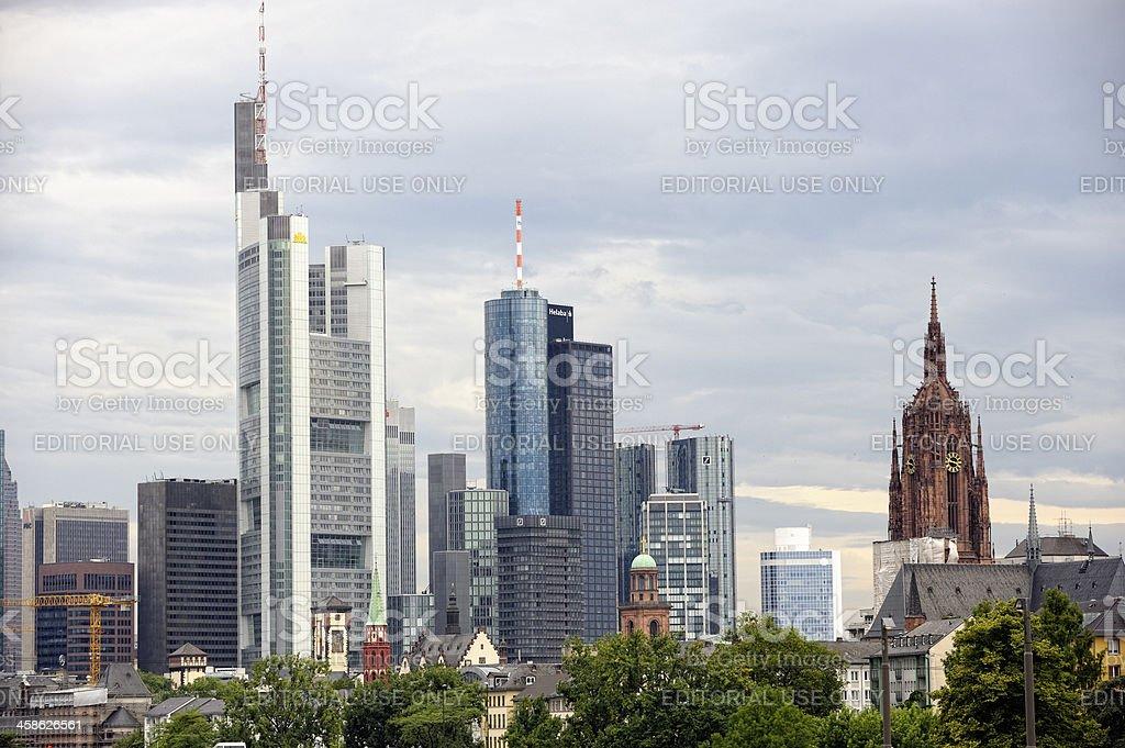 Frankfurt am Main City Centre royalty-free stock photo