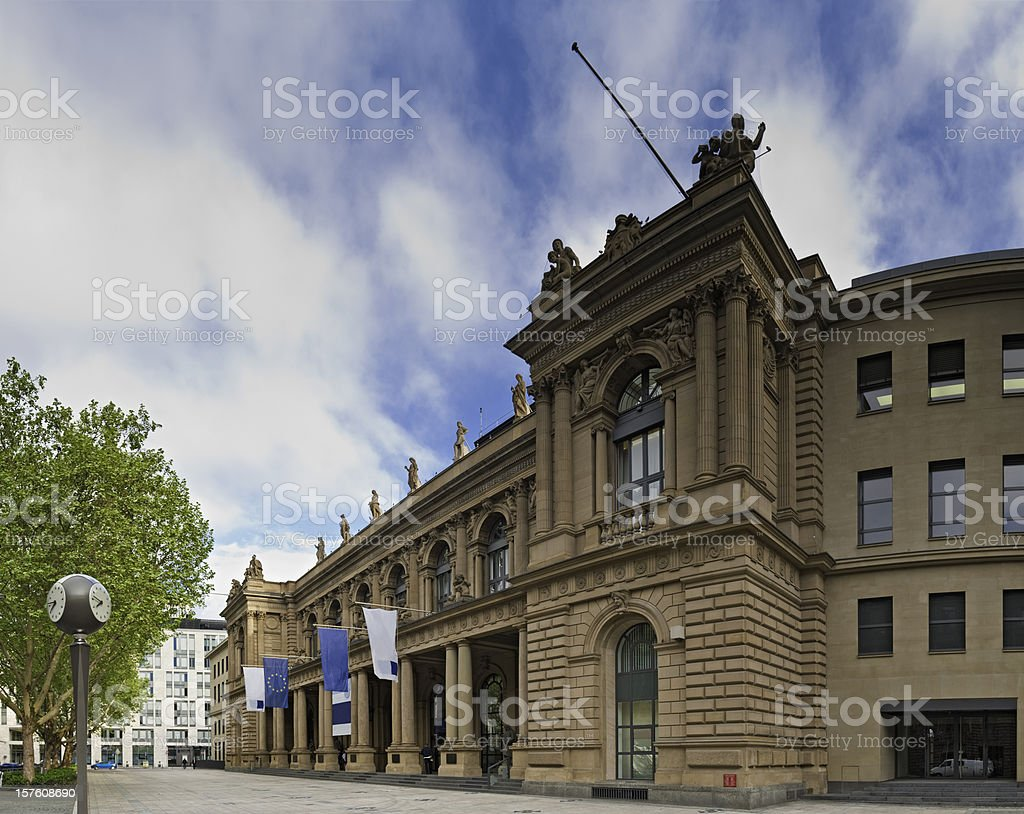 Frankfurt am Main Deutsche Börse stock exchange Germany royalty-free stock photo