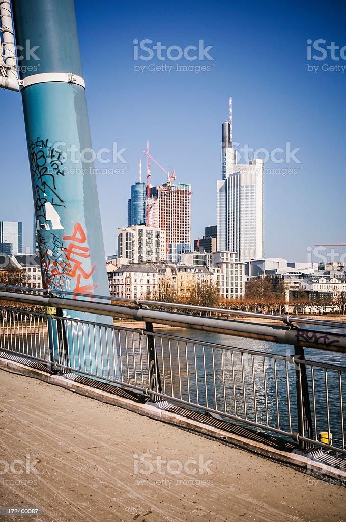 Frankfurt am Main - Downtown office buildings stock photo