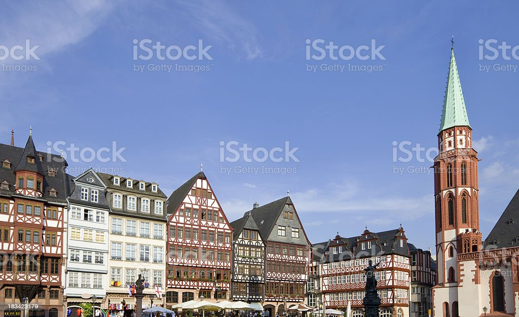 Frankfurt am Main Germany Romerberg Square stock photo