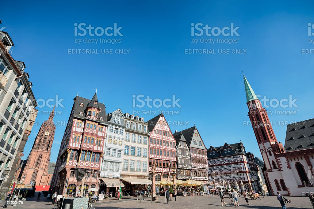 Frankfurt am Main, Roemerberg royalty-free stock photo