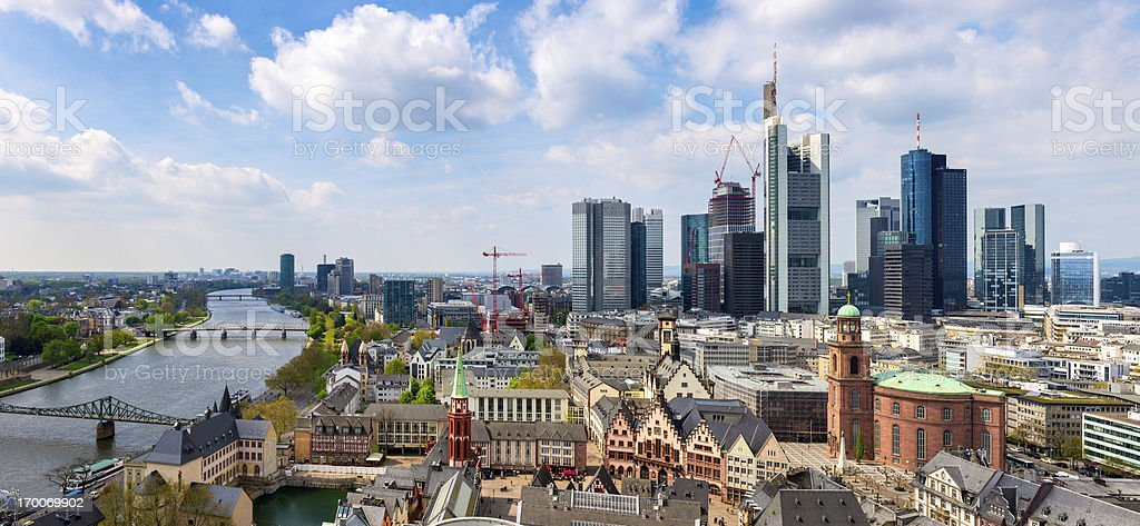 Frankfurt am Main Skyline, Germany stock photo