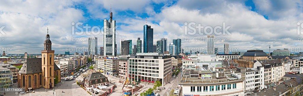 Frankfurt am Main Zeil Hauptwache skyscrapers Germany stock photo