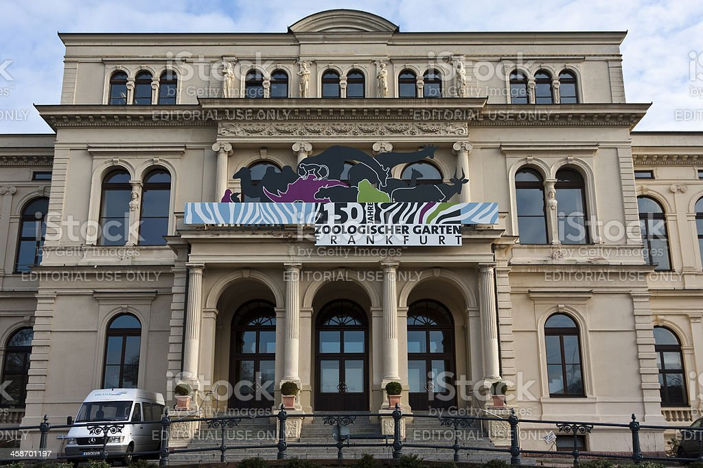 Frankfurt am Main Zoo, principal entrance building stock photo