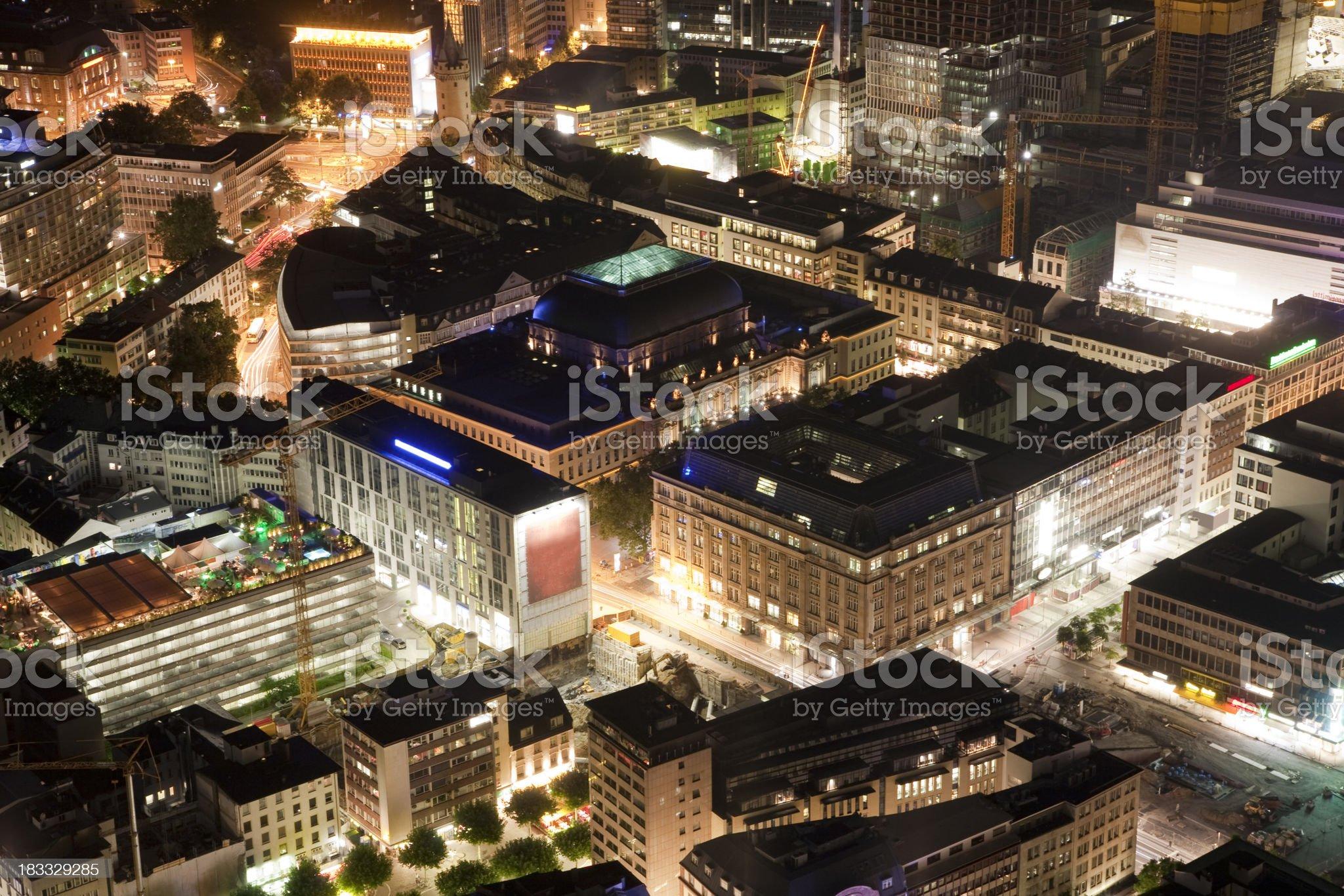 Frankfurt at Night, Germany royalty-free stock photo