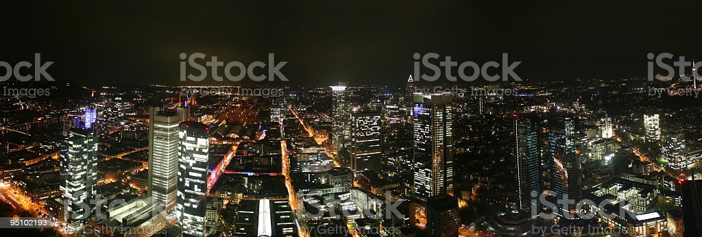 Frankfurt at night royalty-free stock photo
