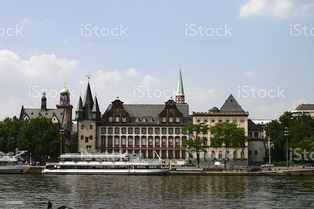Frankfurt by River royalty-free stock photo
