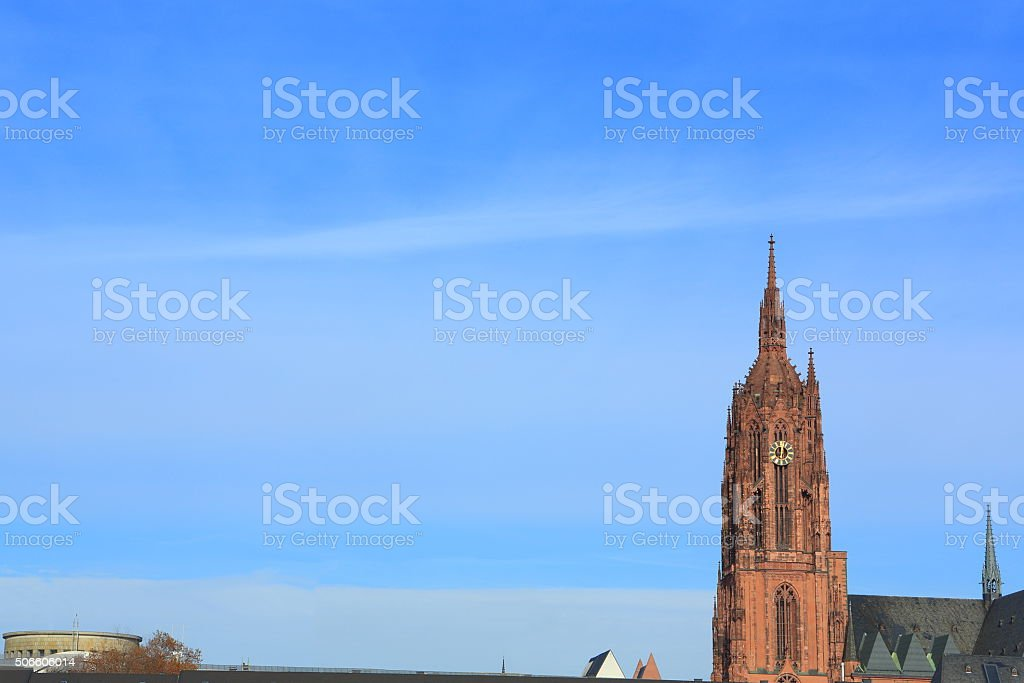 Frankfurt Cathedral stock photo