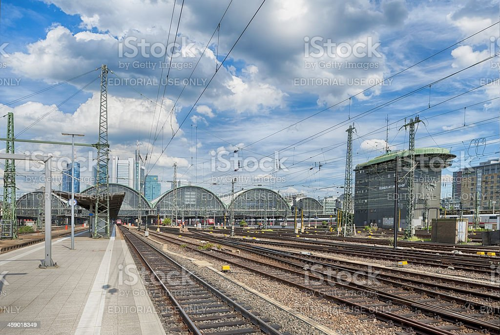 Frankfurt Central Station Hauptbahnhof stock photo