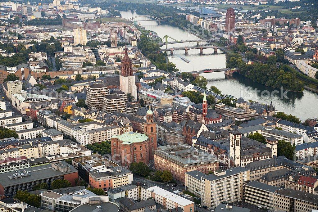 Frankfurt City & River Main, Germany royalty-free stock photo
