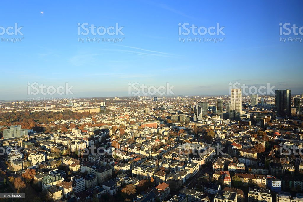 Frankfurt East from North stock photo