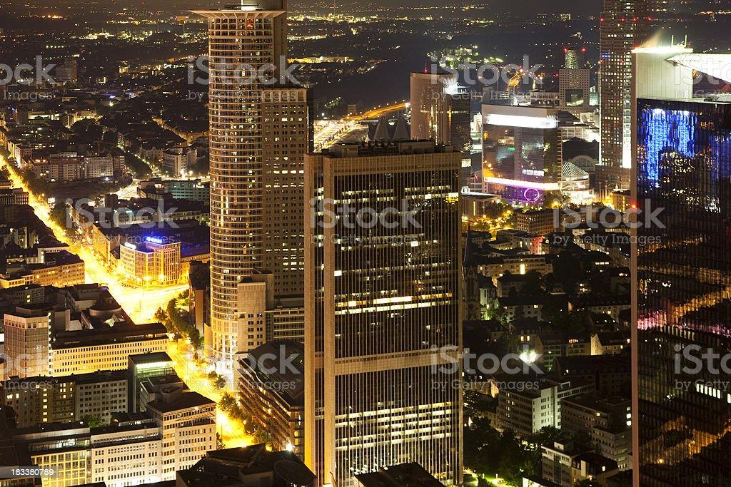 Frankfurt Financial District royalty-free stock photo