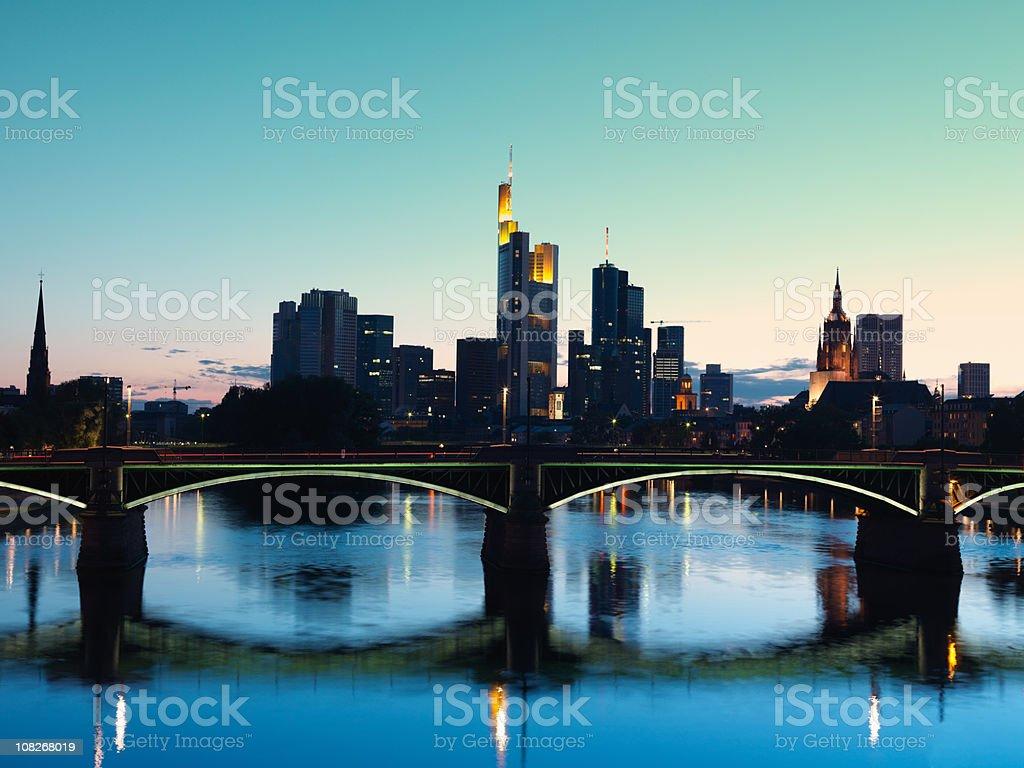 Frankfurt, Germany at Twilight stock photo