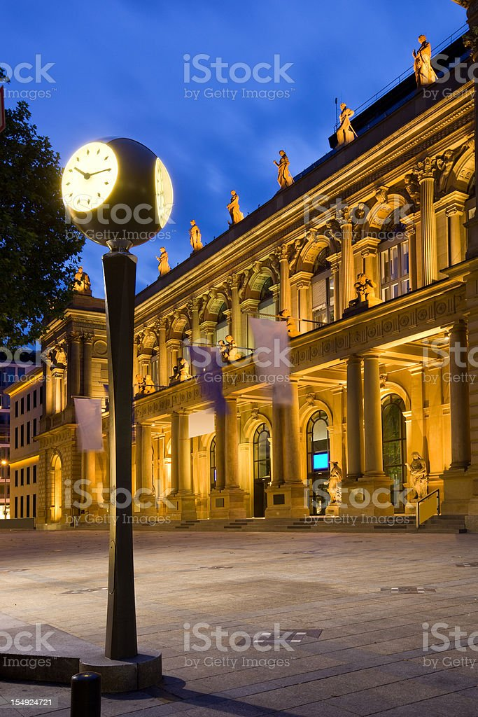 Frankfurt Germany Borsenplatz and the Frankfurt Exchange royalty-free stock photo
