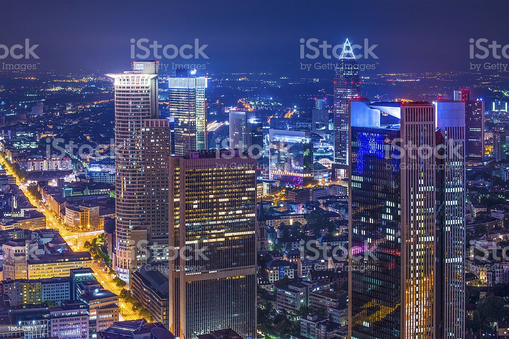 Frankfurt Germany Cityscape royalty-free stock photo